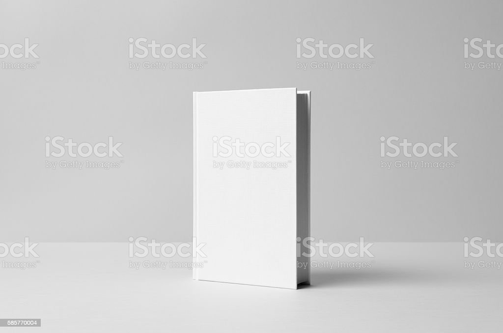 Hardcover Canvas Book Mock-Up- Front. Wall Background - Photo