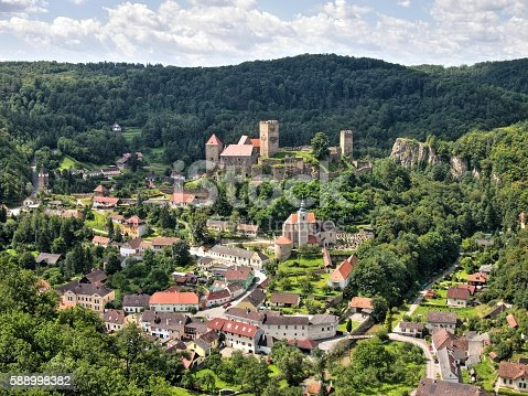 istock Hardegg town and castle 588998382