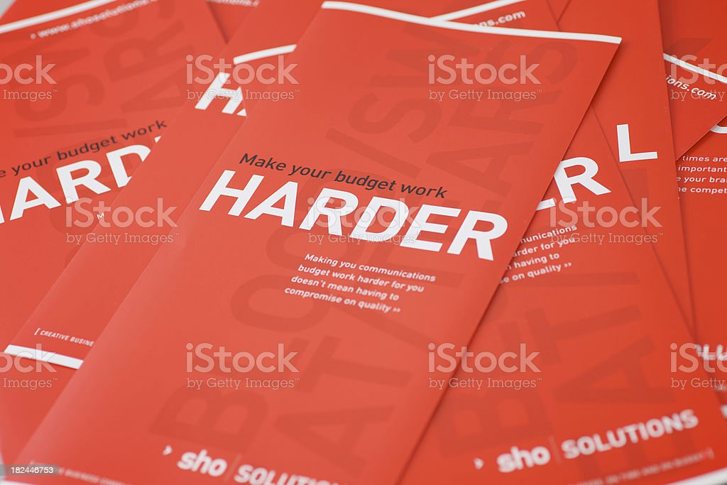 Harder Leaflets... stock photo