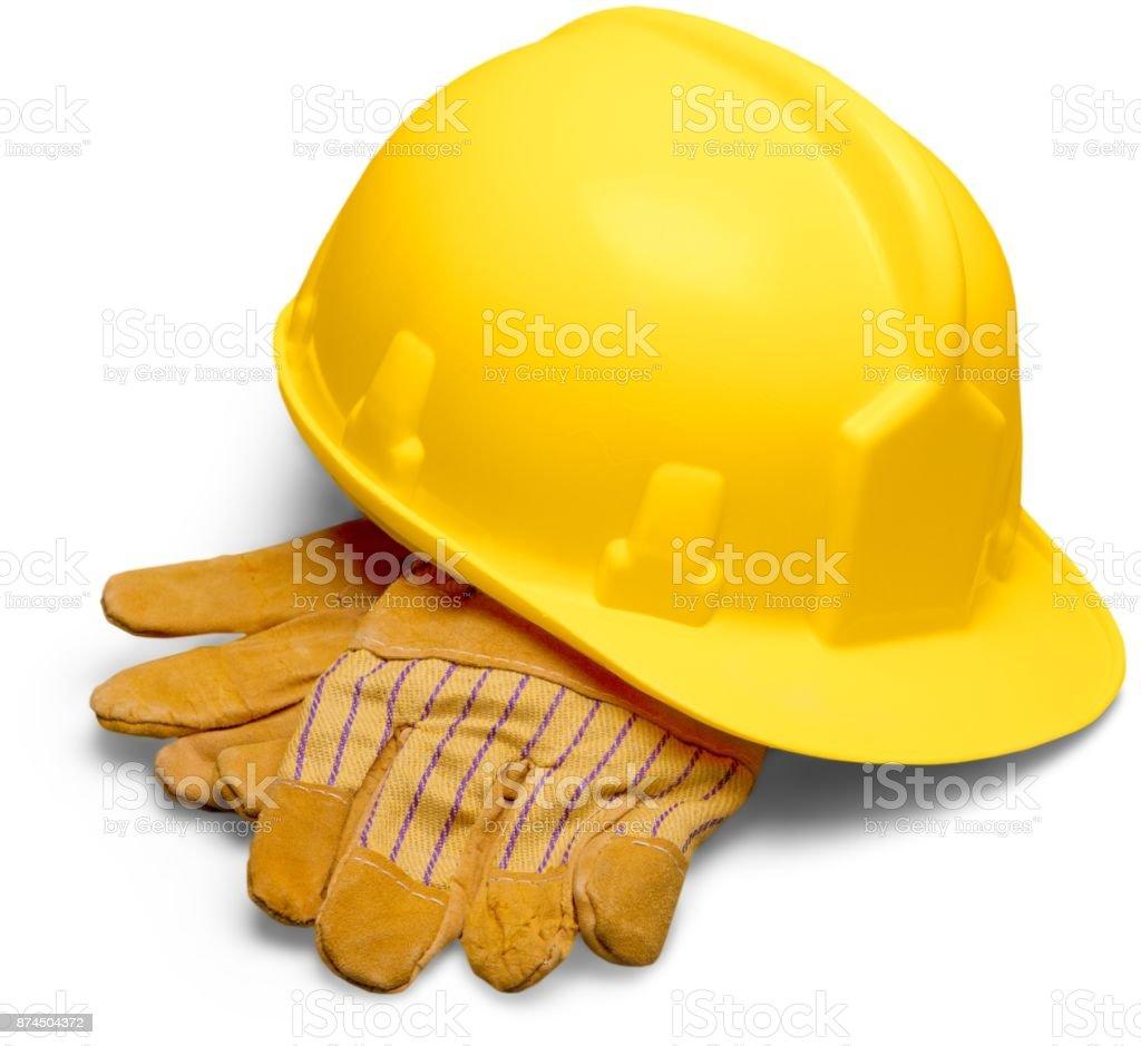 Bauarbeiterhelm. – Foto