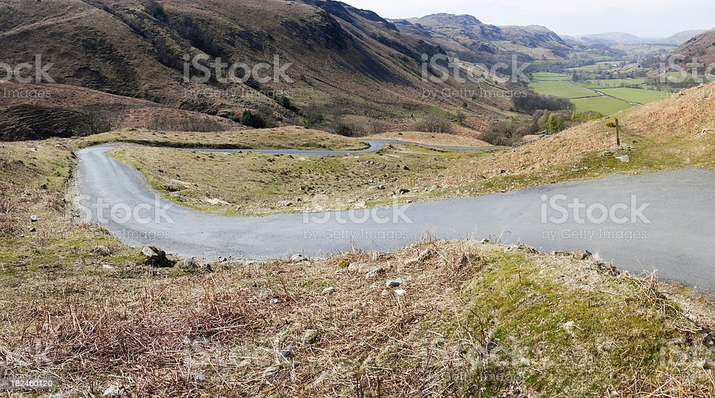 Hardknott Pass and Eskdale royalty-free stock photo