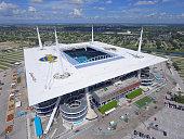 Hardrock Stadium Miami Dolphins aerial image
