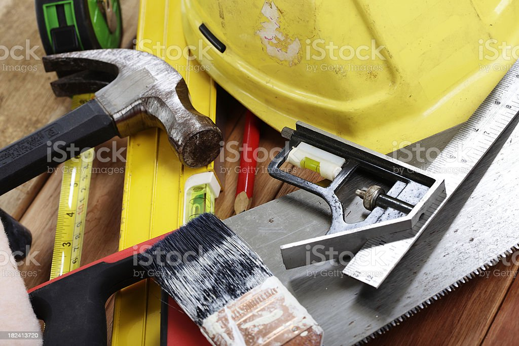 Hardware Building Tools royalty-free stock photo