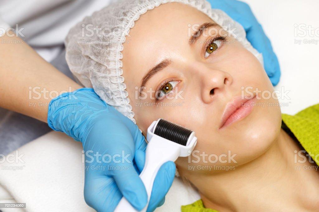 Hardware cosmetology. Mesotherapy stock photo