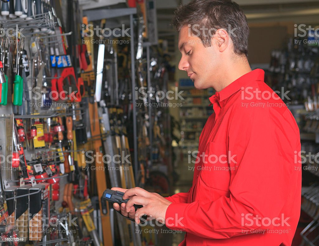 Hardware Employee - Inventory Side royalty-free stock photo