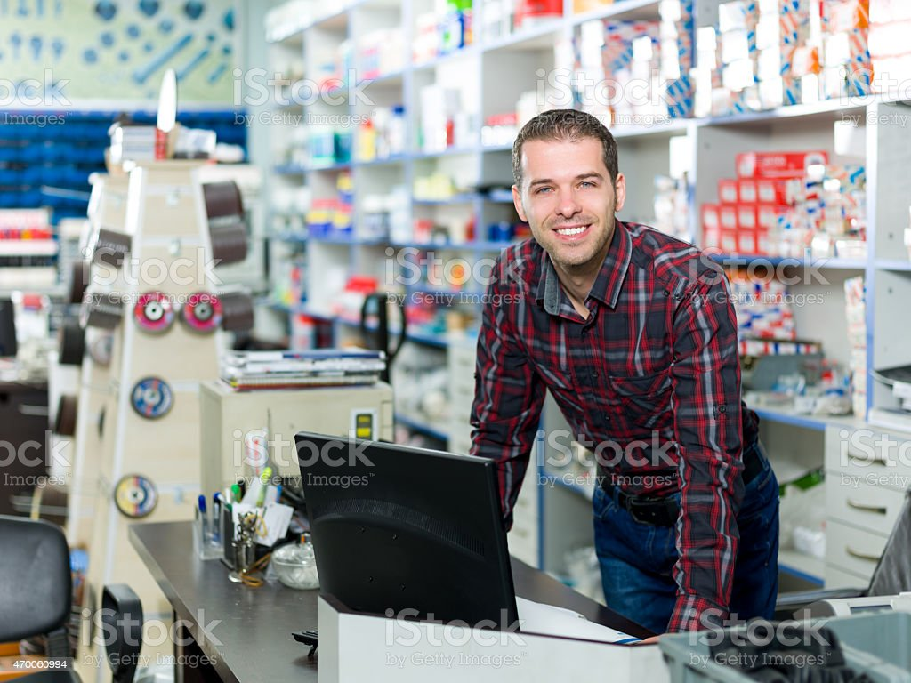 Hardware Store Owner stock photo