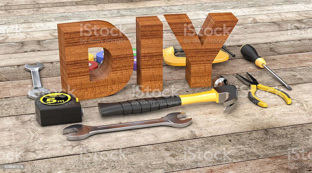 hardware tools, concept of diy stock photo