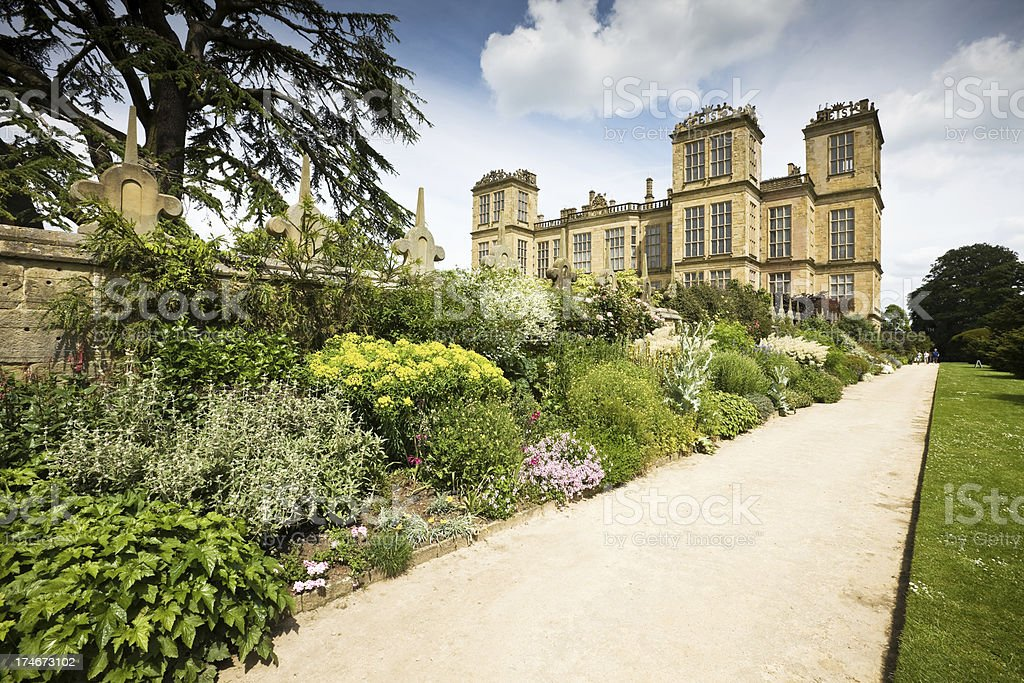 Hardwick Hall and Gardens stock photo