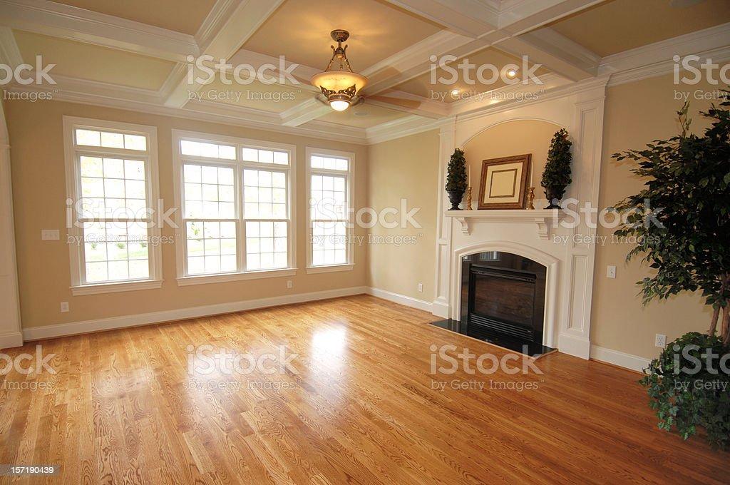 Hardwood den royalty-free stock photo