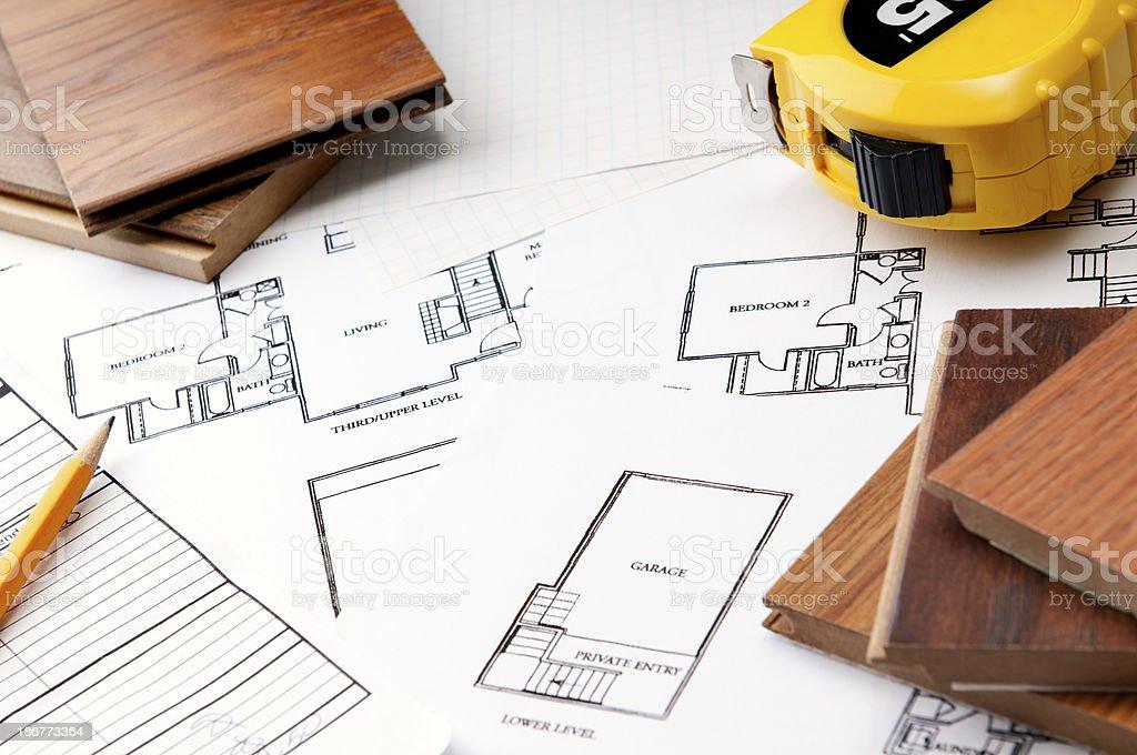 Hardwood Floor Design royalty-free stock photo