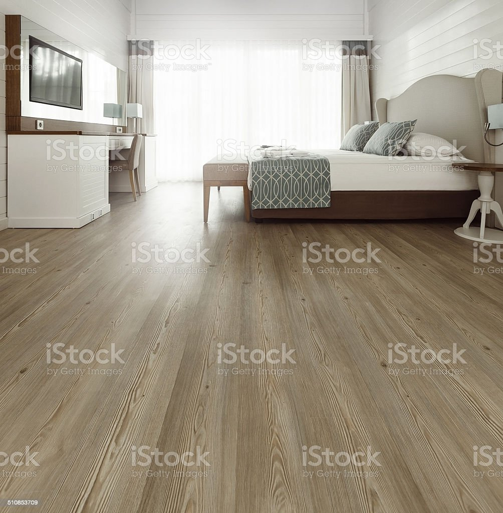 Hardwood floor stock photo
