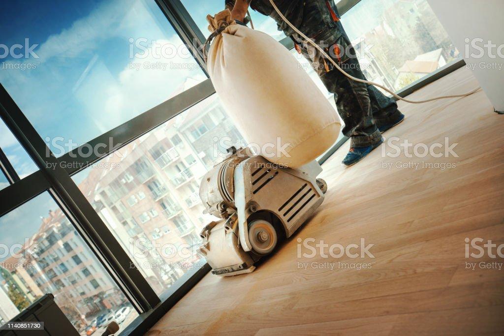 Hardwood Floor Restoring Stock Photo Download Image Now