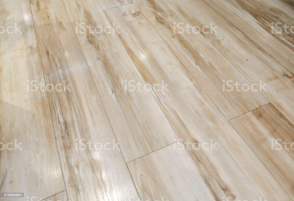 hardwood floor waxing glossy and shiny stock photo