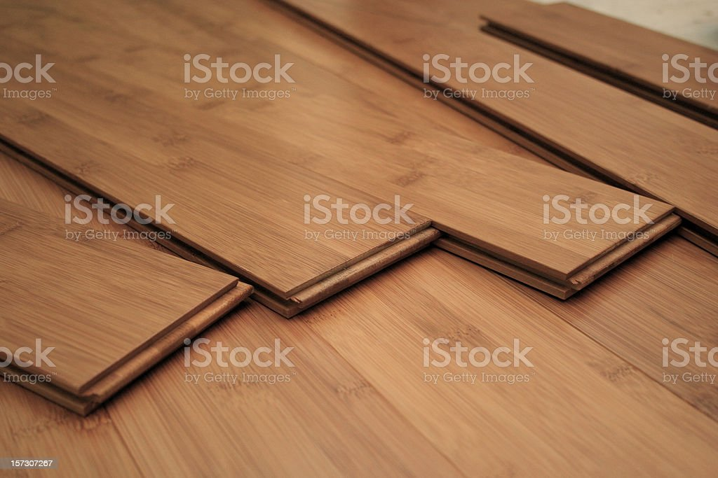 Hardwood Flooring Project stock photo