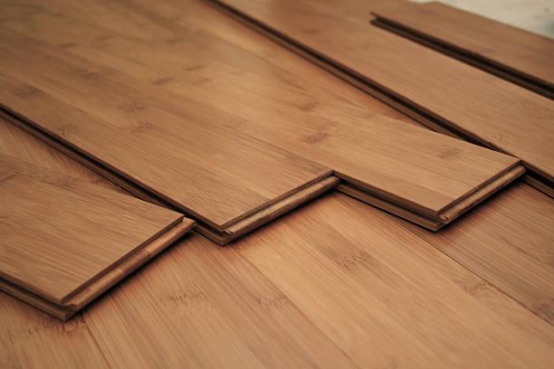 Hardwood Flooring Project stock photo