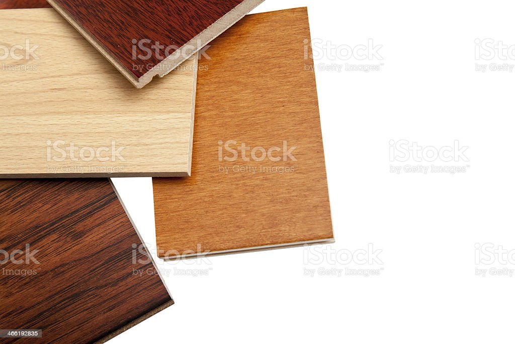 hardwood flooring samples stock photo