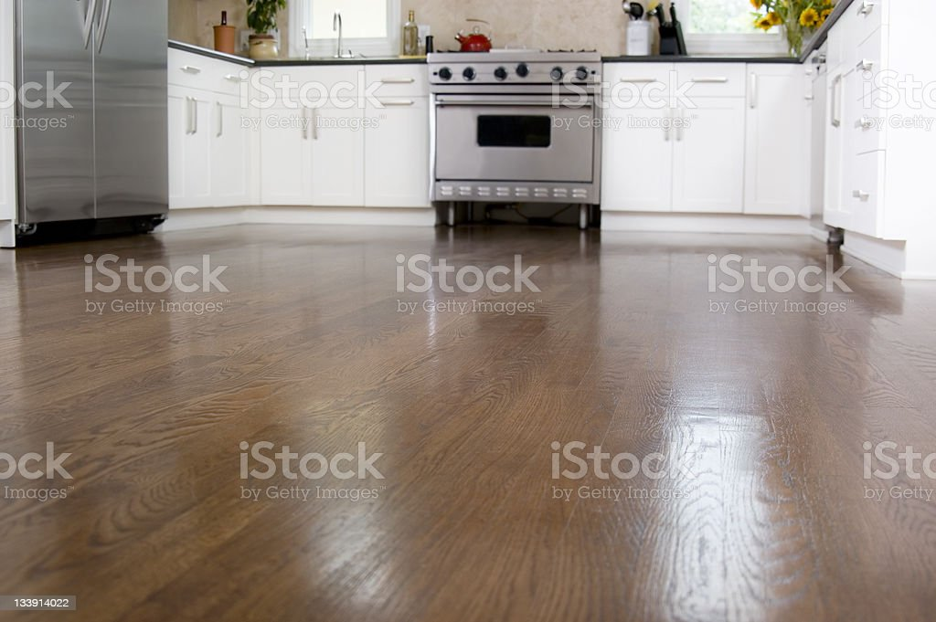 Hardwood Floors in the Kitchen stock photo