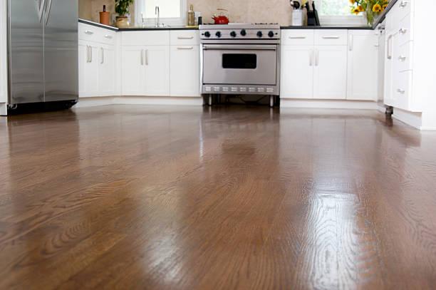Hardwood Floors in the Kitchen stock photo