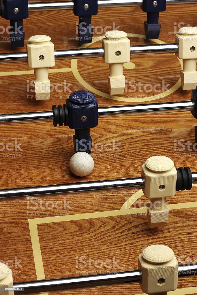 Hardwood Foosball Table Game stock photo