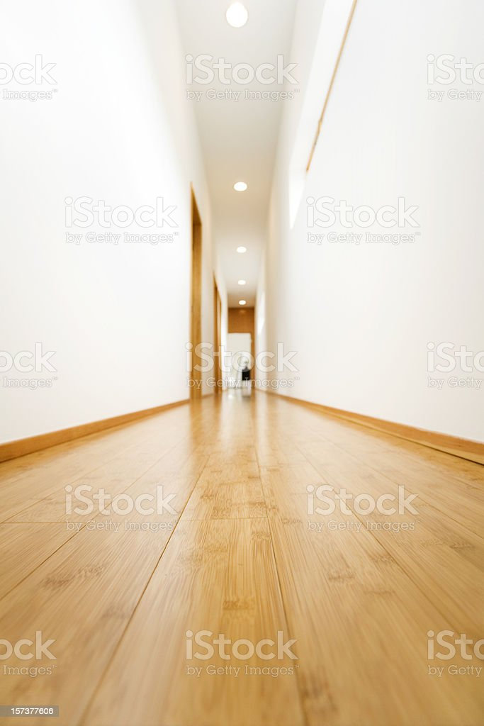 Hardwood Hallway stock photo