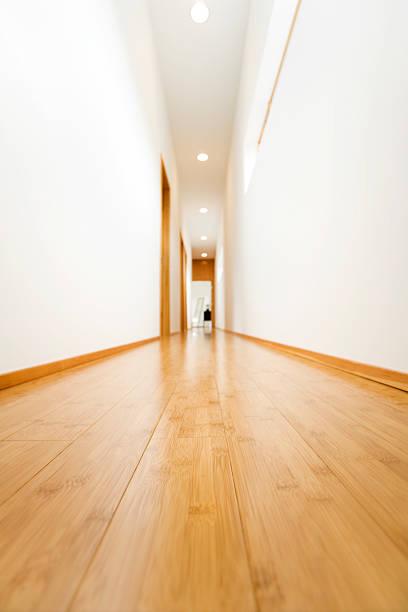 Hardwood Hallway stock photo