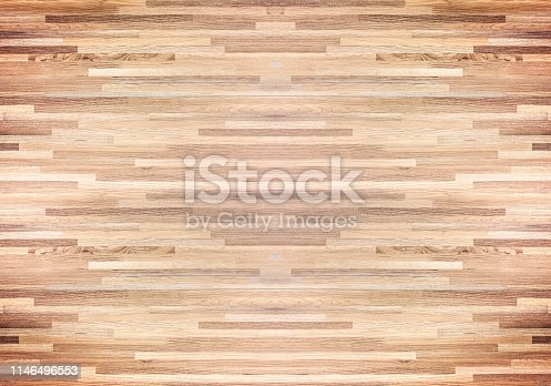 istock Hardwood maple basketball court floor viewed from above. 1146496553