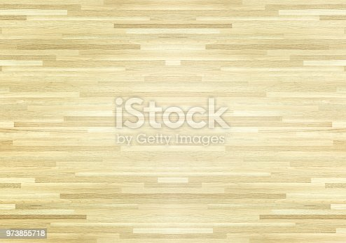 istock Hardwood maple basketball court floor viewed from above. 973855718