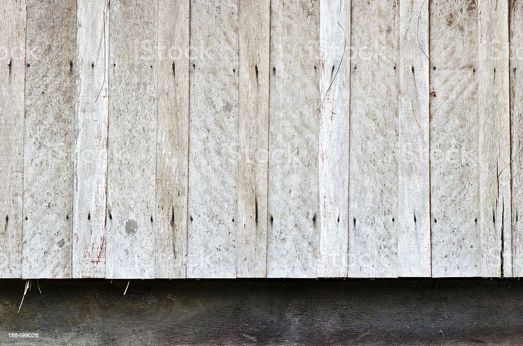 Hardwood wall of very old house royalty-free stock photo