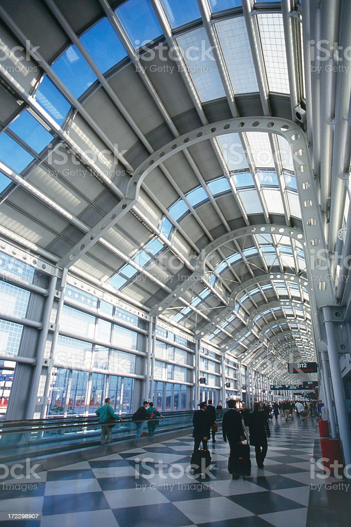 O'Hare Airport Concourse B royalty-free stock photo