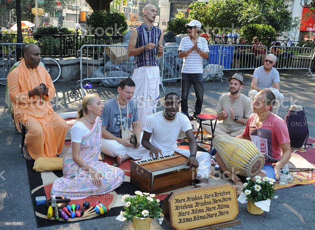 Hare Krishnas in Union Square stock photo