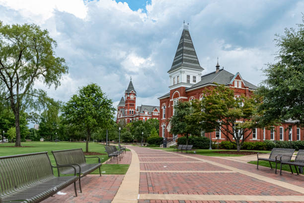 Hargis Hall at Auburn University stock photo