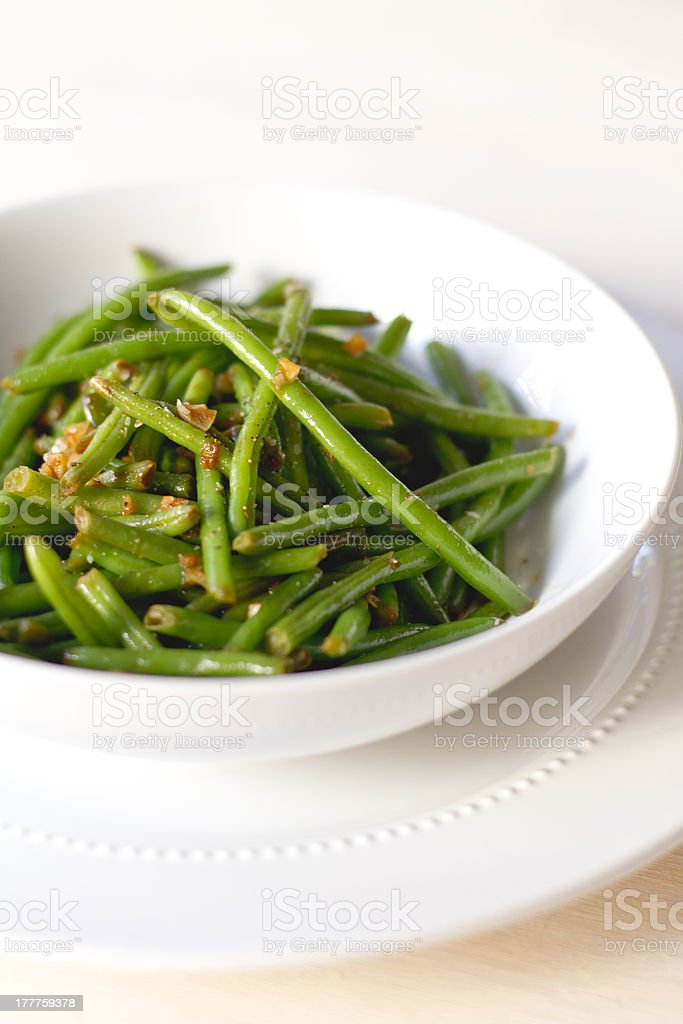 Haricot verts stock photo