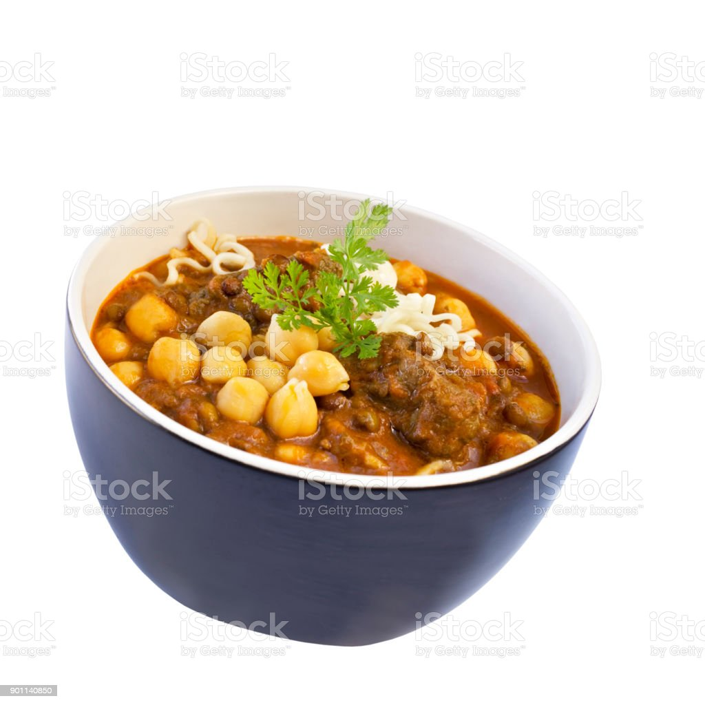 Harira Middle Eastern Soup stock photo