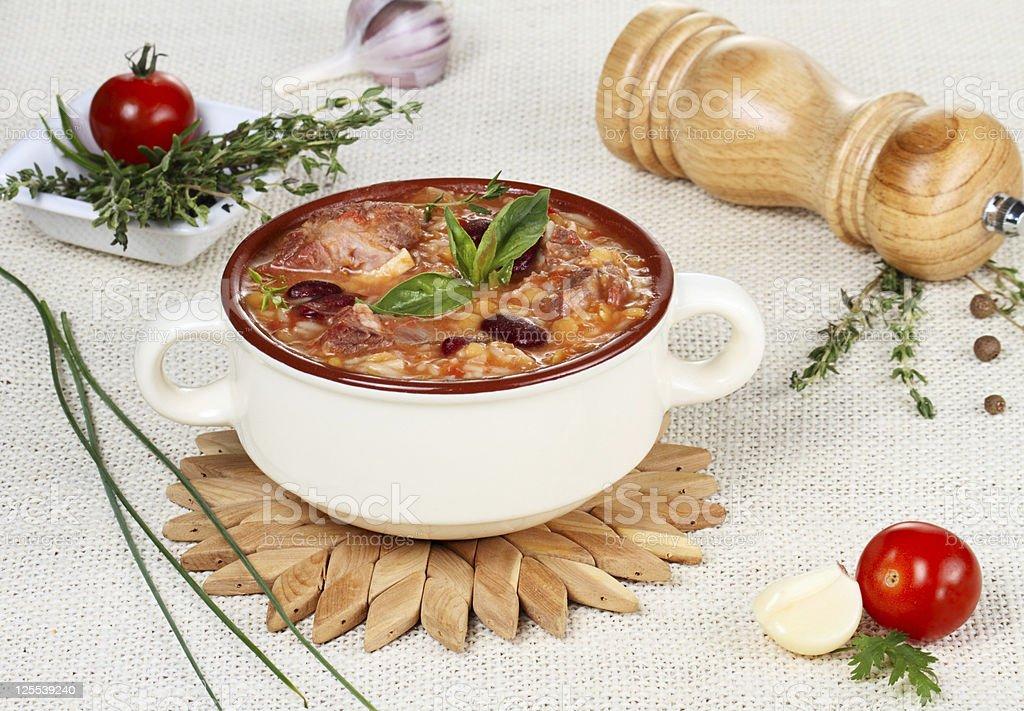 Harira soup royalty-free stock photo