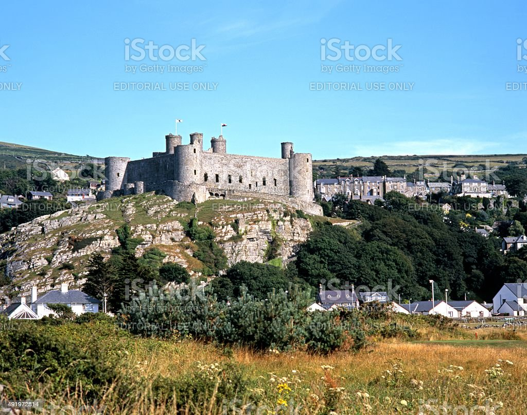 Harlech Castle, Wales. stock photo