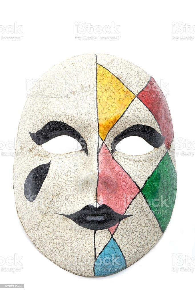 harlequin mask on white royalty-free stock photo