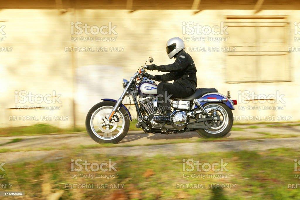 Harley Davidson Dyna ride royalty-free stock photo