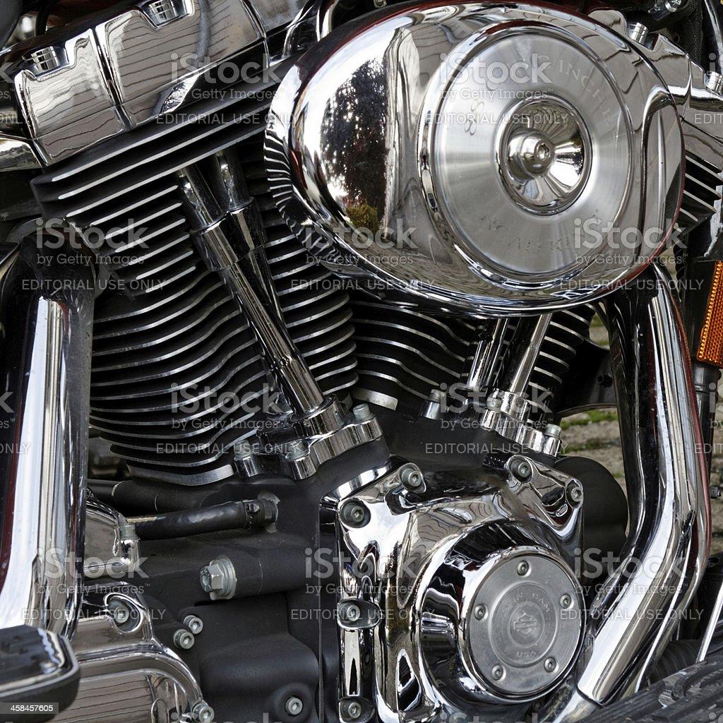 Harley Davidson engine stock photo
