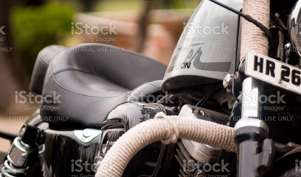 Harley Davidson in Haryana stock photo