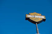 'knoxville, tn usa - february 25, 2012: Harley Davidson sign located at harley davidson store in knoxville, tn usa.'