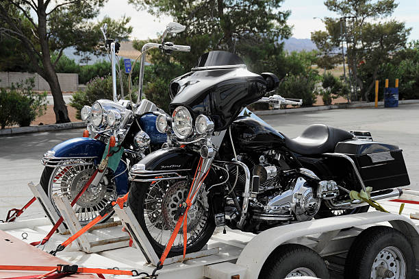 harley davidson transporter - clark county nevada stock pictures, royalty-free photos & images