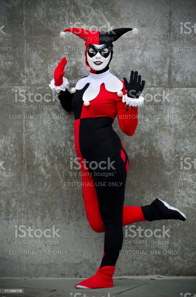 Harley Quinn from Batman royalty-free stock photo
