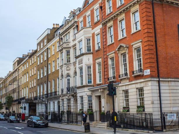 Harley Street, Londres - foto de stock