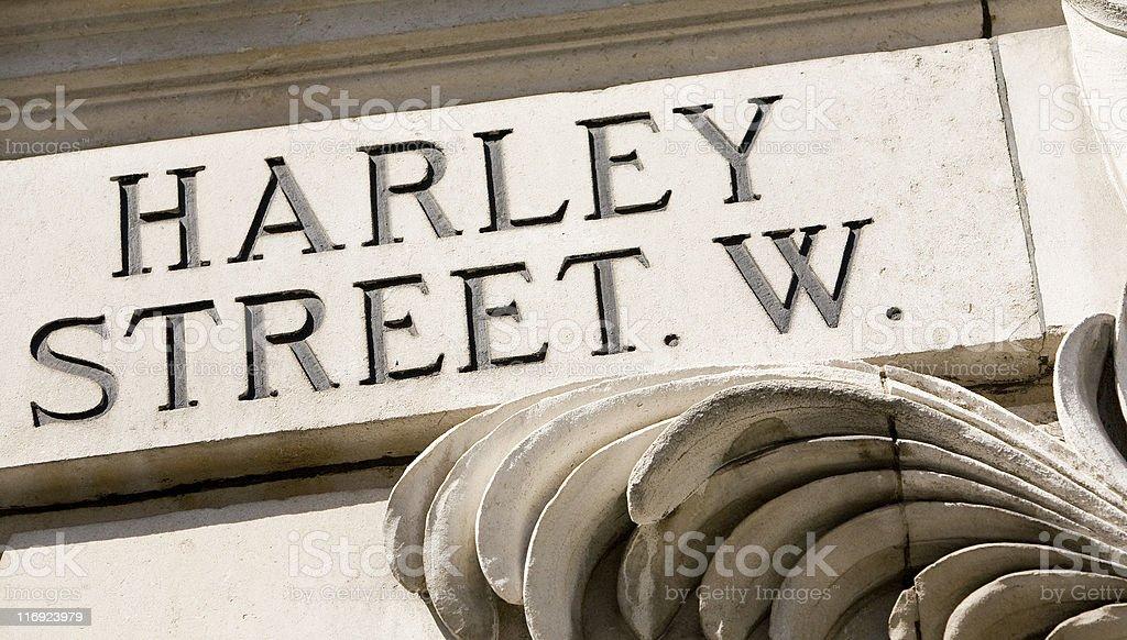 Harley street sign, London, England royalty-free stock photo