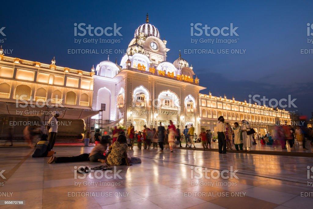 Harmandir-Sahib complex stock photo