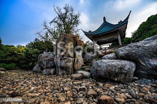 A peaceful scene at a Classical Chinese garden in Wuxi, China
