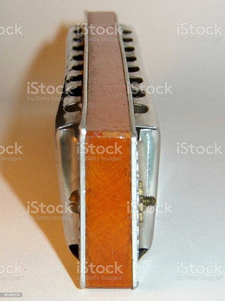 Harmonica on side royalty-free stock photo