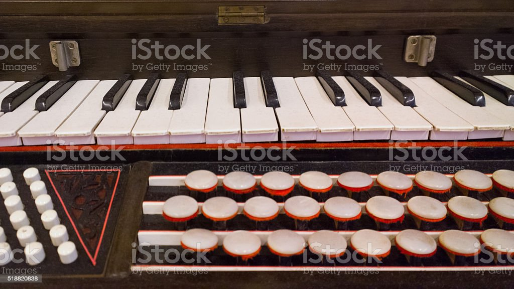 Harmonium Keys Buttons Stock Photo - Download Image Now - iStock