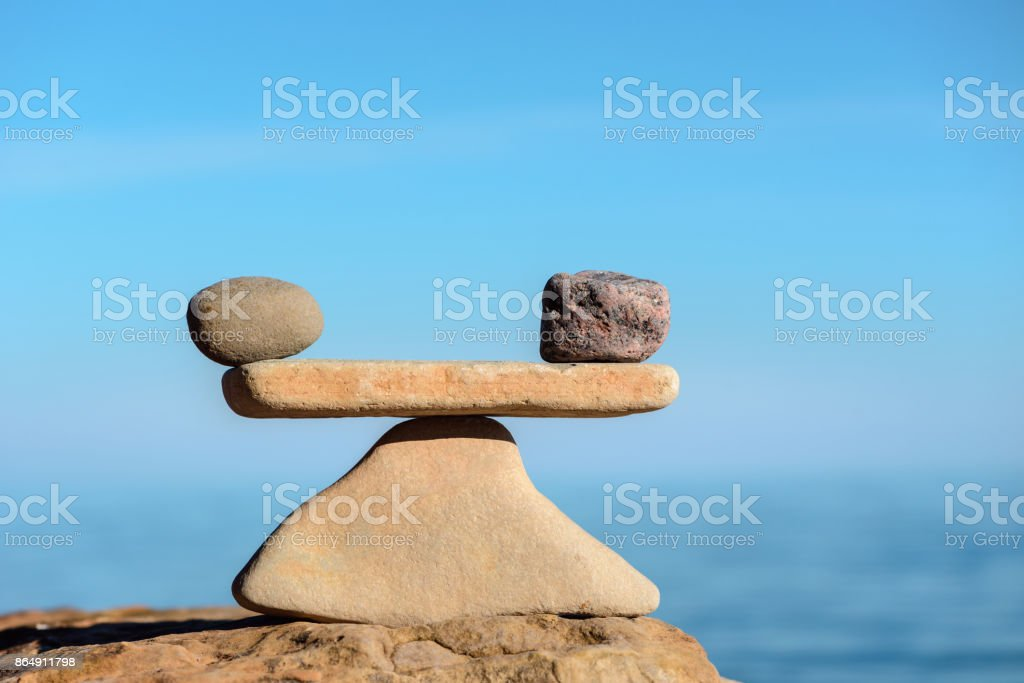 Harmony balance of stones stock photo