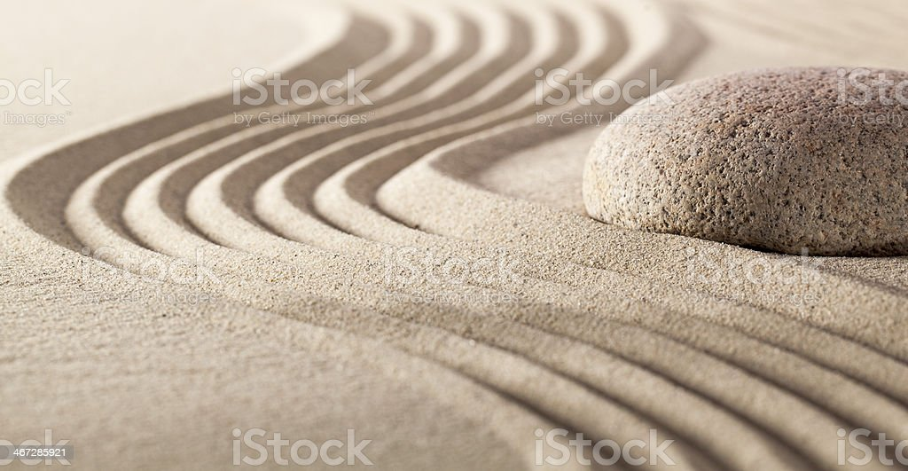 harmony stillness with pebble and sand stock photo